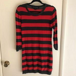 Stripe sweater long sleeve dress!